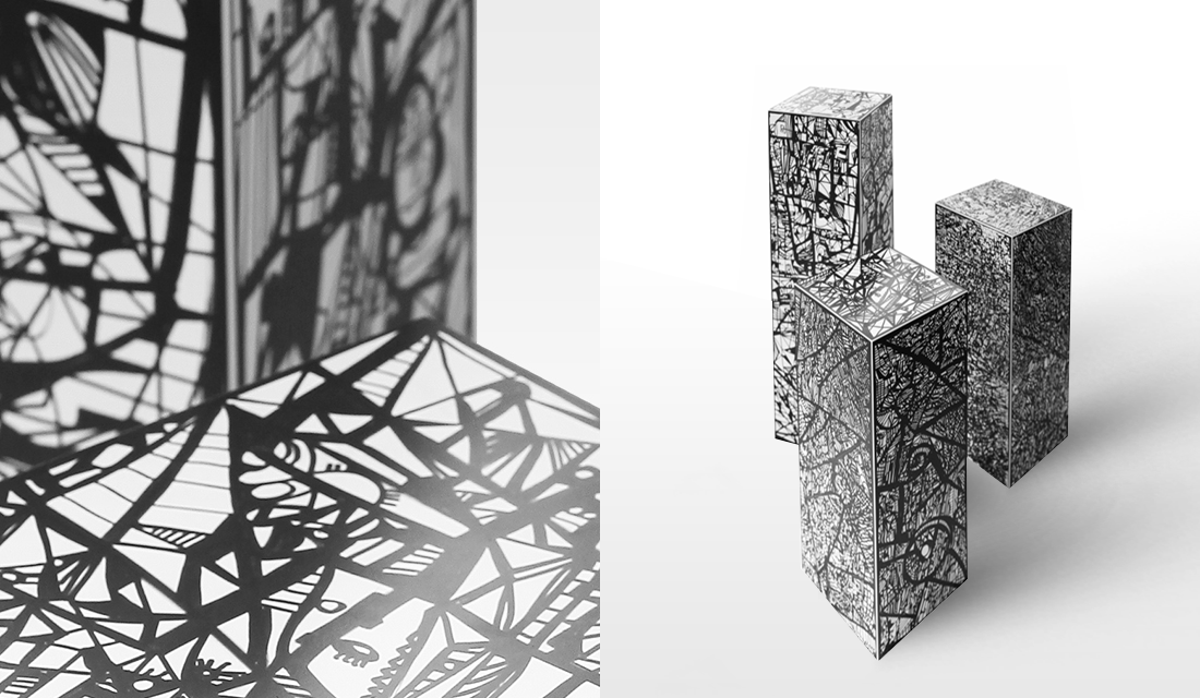 Black and White colonnes (Wooded et Moberland)